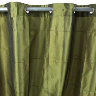 WILLIAM rideau Taffetas polyester (150x250cm) Vert bronze
