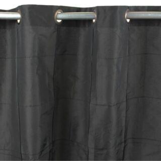 WILLIAM  rideau Taffats polyester (150x250cm) Noir