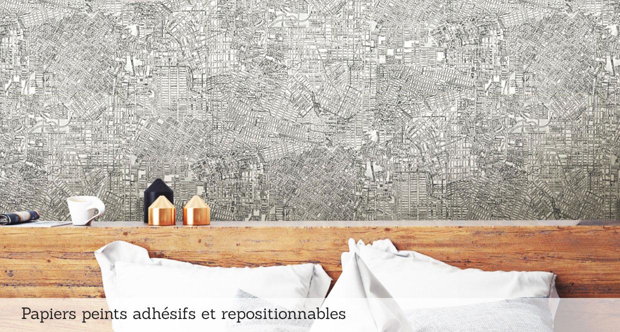 Papiers peints adhésifs repositionnables